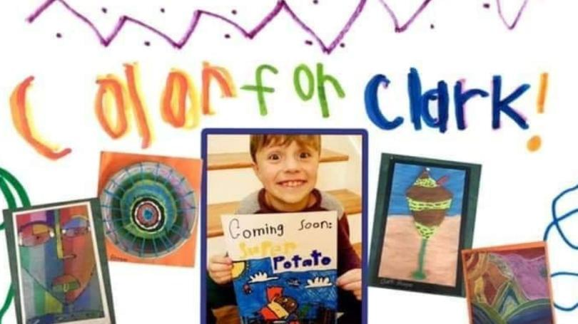 """""""Color for Clark"""" Art Drive Honoring Maryville Boy"""