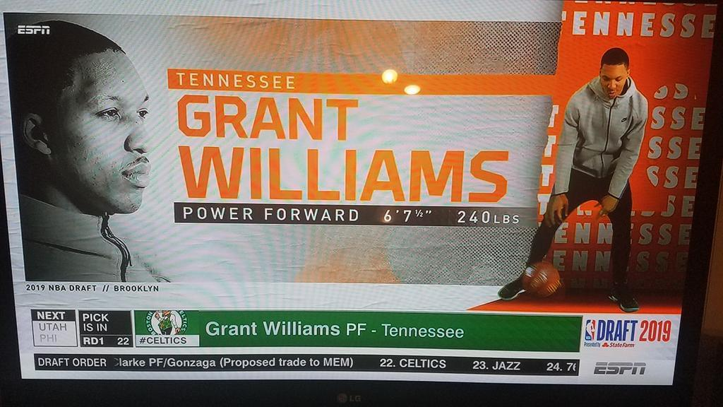 Grant Williams a guest on The EA Show after drafted by Celtics