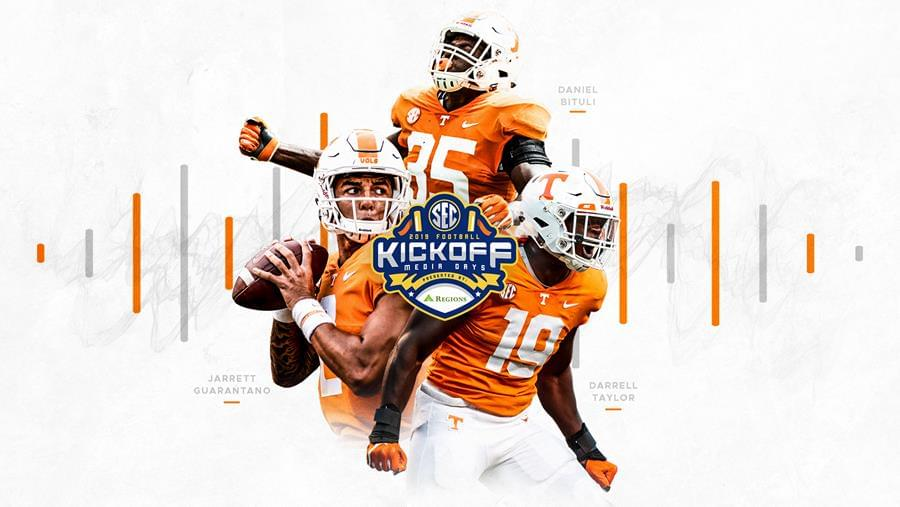 Bituli, Guarantano and Taylor to Represent Vols at SEC Media Days
