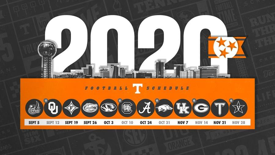 Fall 2020 Course Schedule Ut Tennessee Football Announces 2020 Schedule | WNML AF