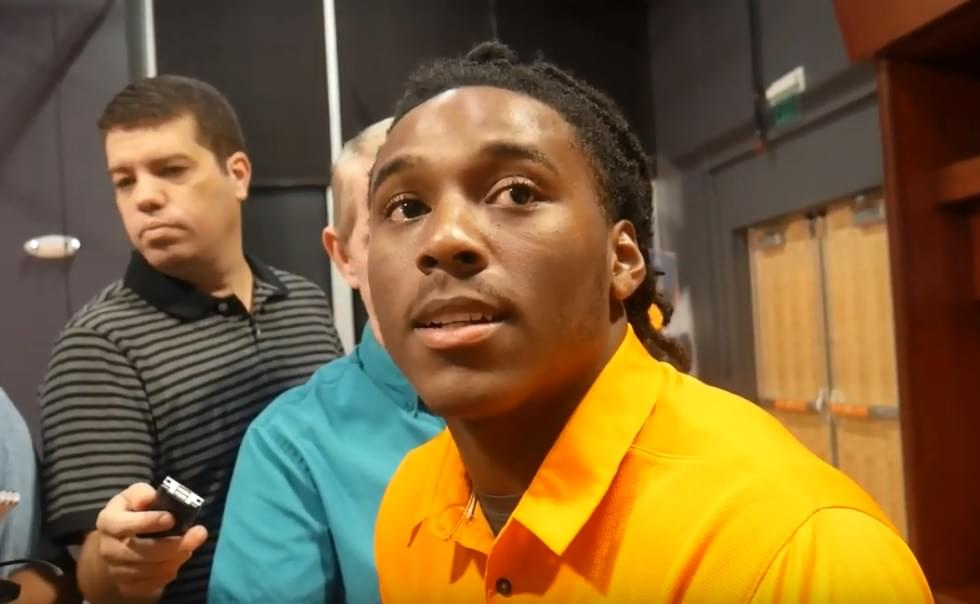 "Video: Callaway on Pruitt ""He's more on both sides of the ball instead of being just on defense"""