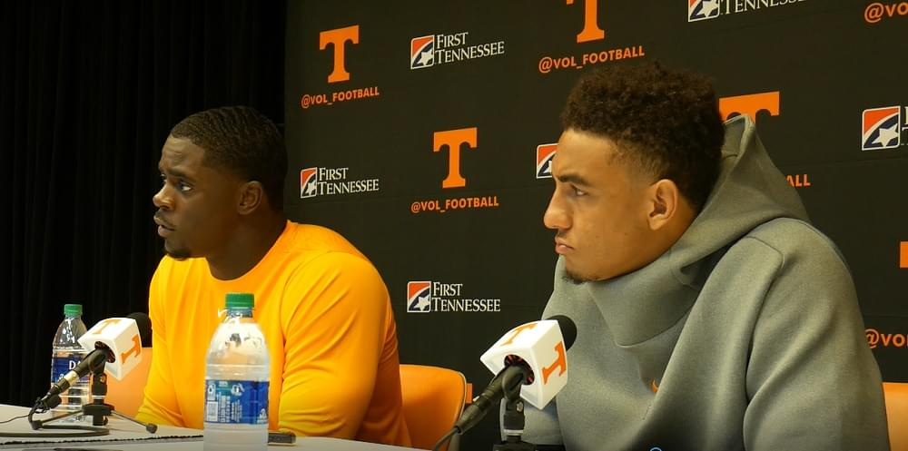 "Video: Guarantano and D. Taylor in Ga St post ""We got to get in our playbook and study more film"""