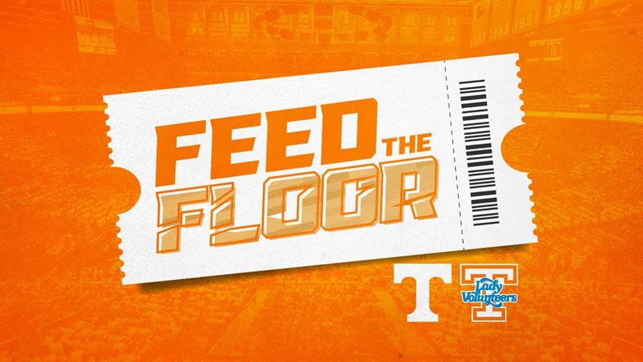 """Tennessee Basketball – UT Fans in a Frenzy to """"Feed the Floor"""""""