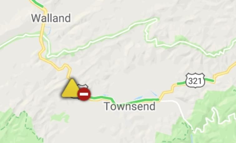 Hwy 321 Closed Toward Townsend