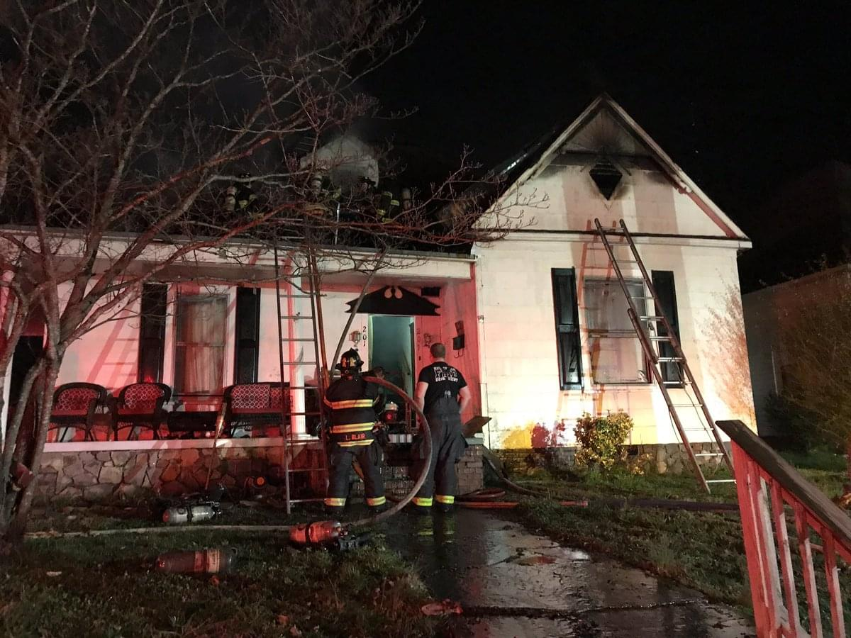 North Knoxville Fire Started by Fireworks