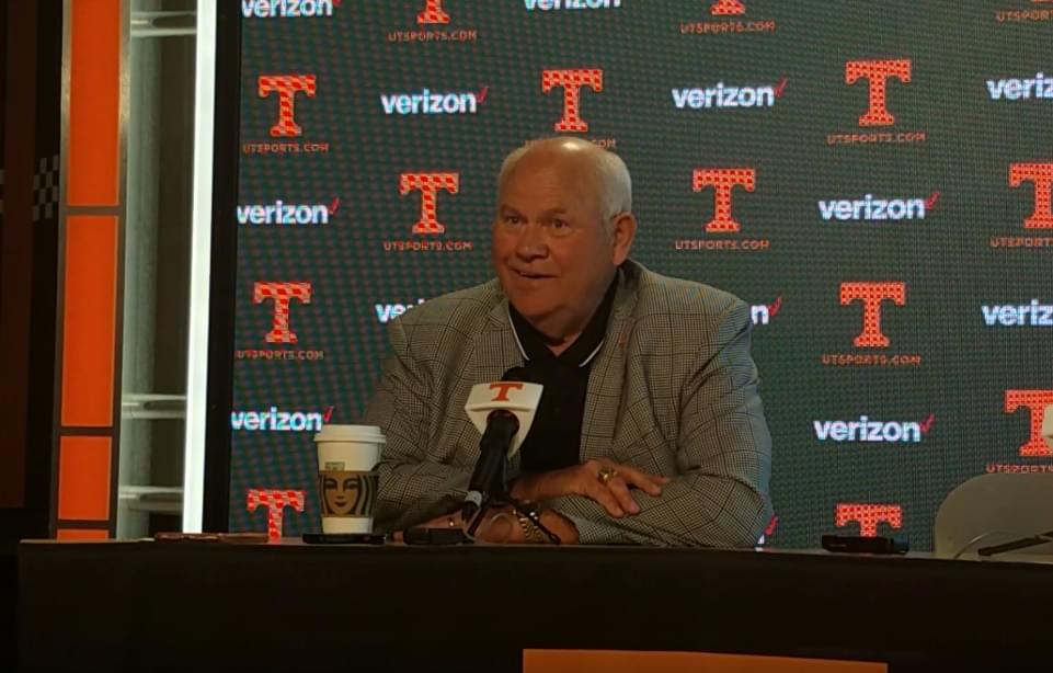 """Video: Phillip Fulmer """"A lot of emotion with that because I care very much for Rick (Barnes)"""""""