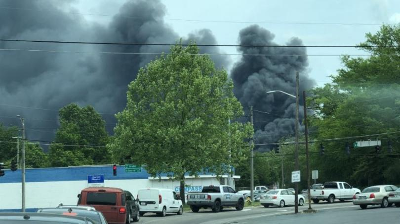 Fire Burns Knoxville Recycling Plant