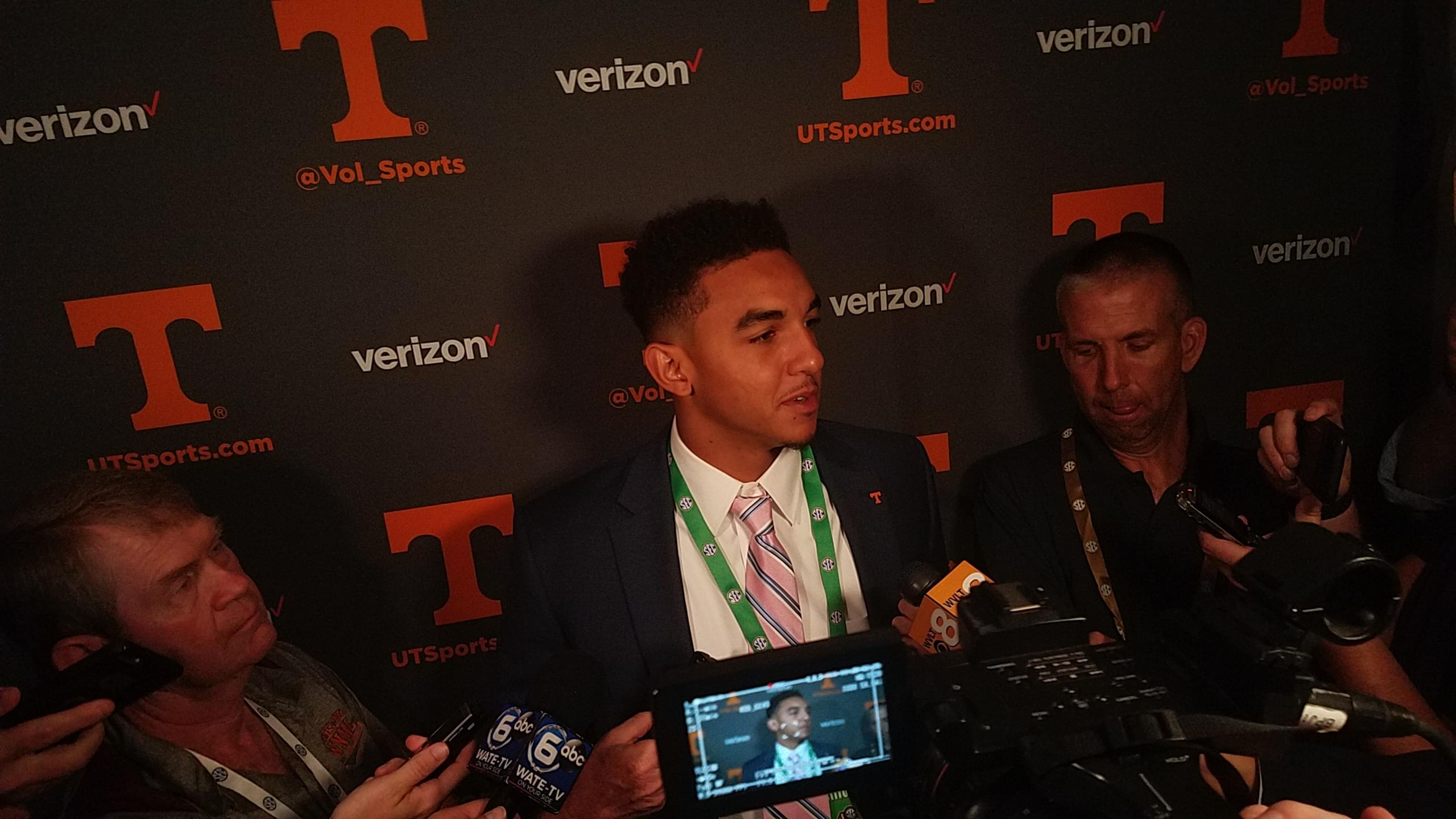 Video: Guarantano raves about Chaney, talks extra responsibility he has at LOS