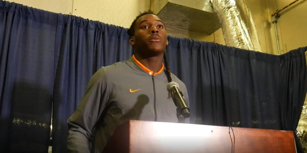 Audio: Marquez Callaway – Florida loss postgame