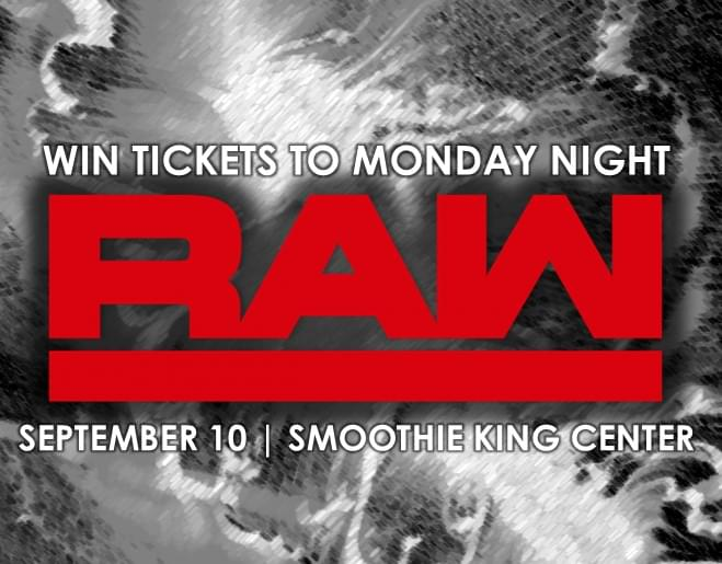 Register to Win Tickets to WWE Monday Night Raw