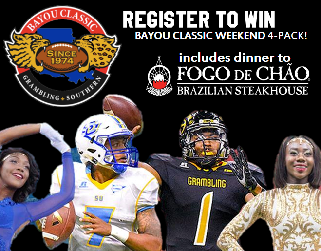Register to Win a BAYOU CLASSIC WEEKEND Family 4-Pack!