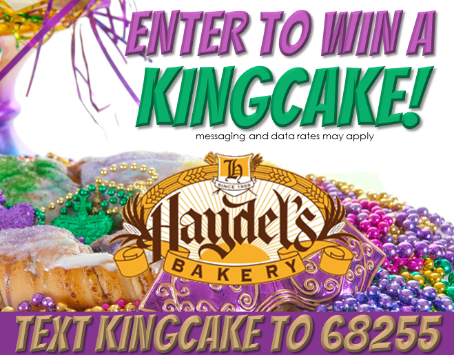 Win a KINGCAKE courtesy of Haydel's Bakery