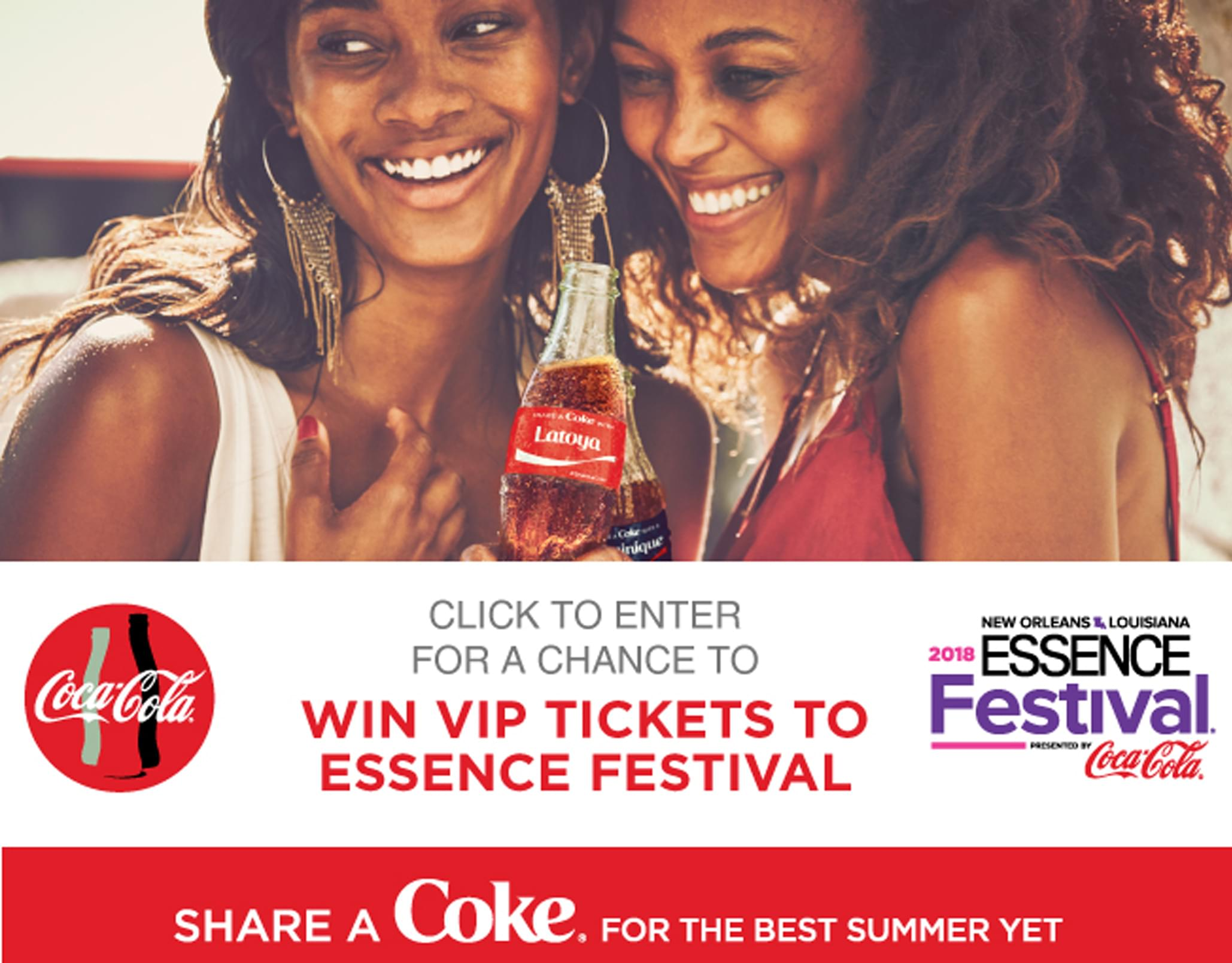 Picture Me Sharing a Coke- Essence Fest 2018