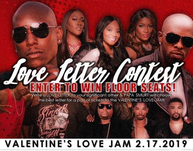 Letter to Your Lover: Win FLOOR SEATS to the Valentine's Love Jam!