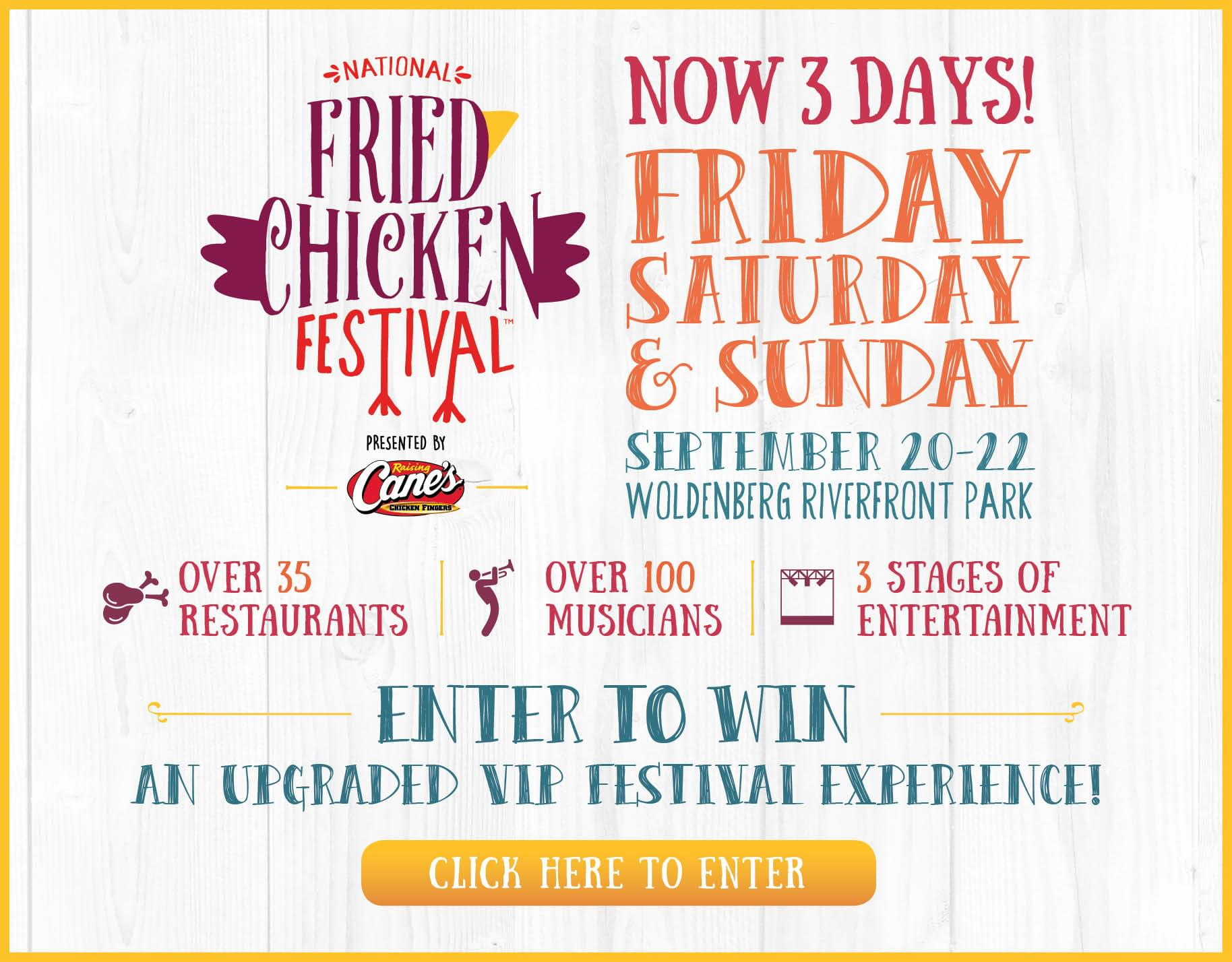 Win Passes to Fried Chicken Festival VIP Champagne Lounge