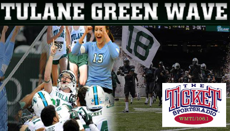 106.1 The Ticket Is Your Home for Tulane Athletics!