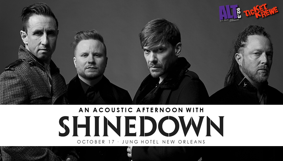 Contest win exclusive shinedown access for an acoustic afternoon at wednesday alt 923 is getting you up close and personal with shinedown at an exclusive acoustic performance and meet greet hosted by jung hotel m4hsunfo