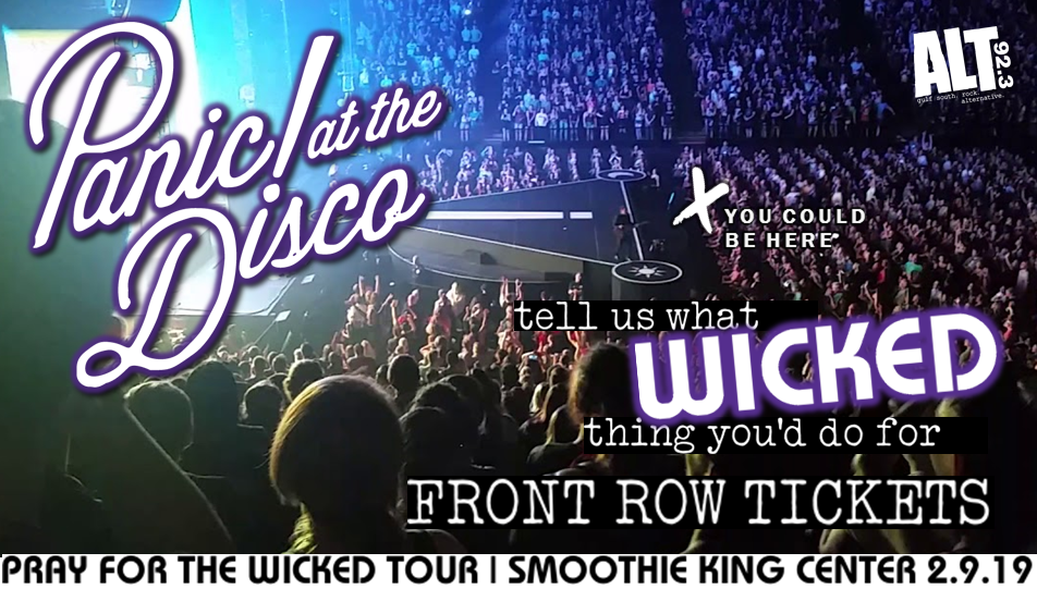 CONTEST: Win FRONT ROW tickets to Panic! at the Disco
