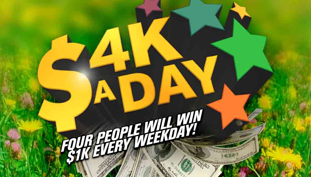 CONTEST: Listen to win with $4K A Day