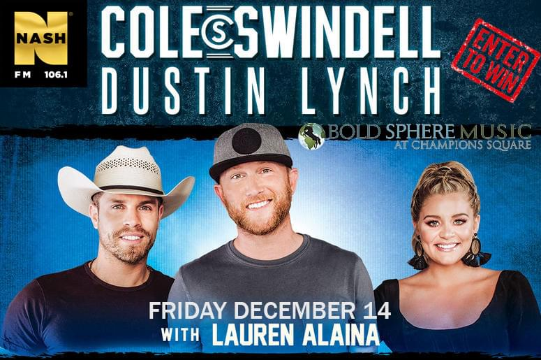 Win Tickets to see Cole Swindell & Dustin Lynch