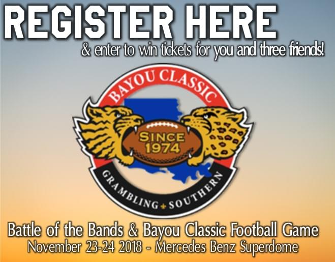 Win Tickets to BAYOU CLASSIC!