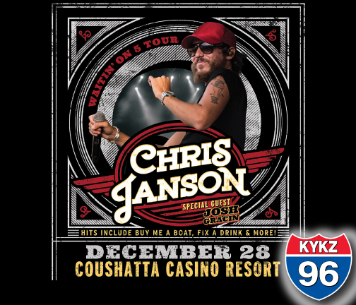 Win Your Way in to See Chris Janson Live at Coushatta!