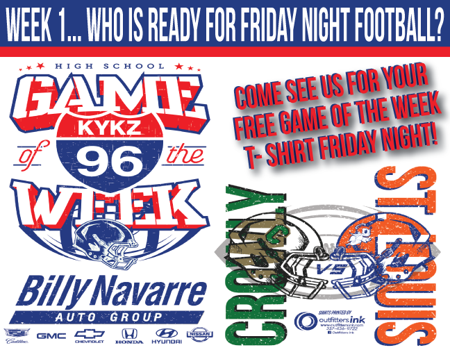 KYKZ 96 Game of the Week!