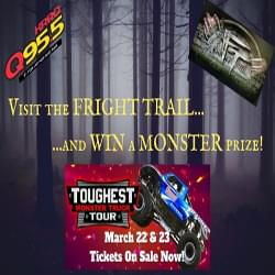 Visit the Fright Trail this October for a chance to win tickets to the Toughest Monster Truck Tour at the Cajundome!