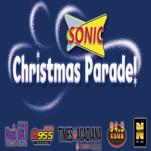 The Sonic Christmas Parade rings in the Christmas season in Downtown Lafayette December 2nd!