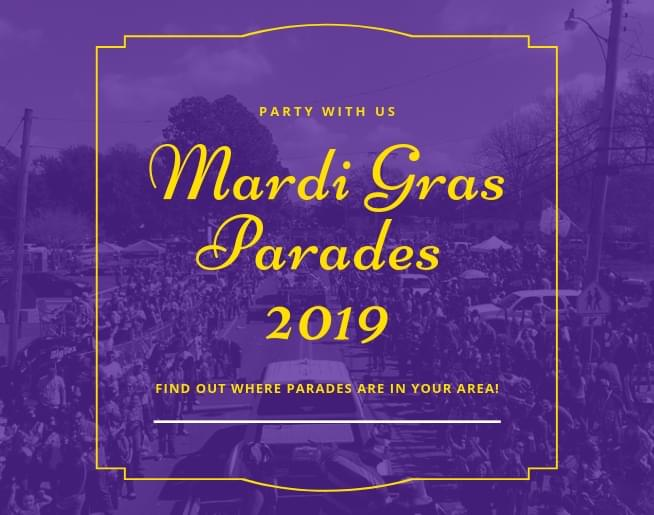 2019 Mardi Gras Parades and Events around Acadiana