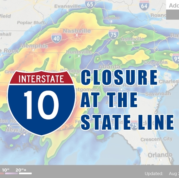 I-10 WB at the State Line is Closed