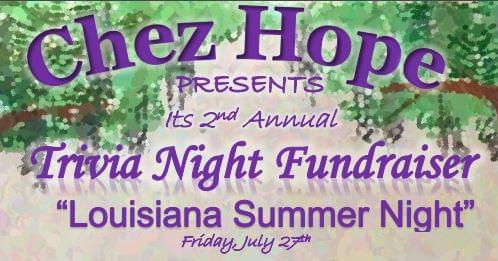 Chez Hope presents the 2nd Annual Trivia Night Fundraiser