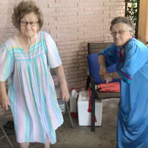 Ladies in their 80s – #KikiChallenge