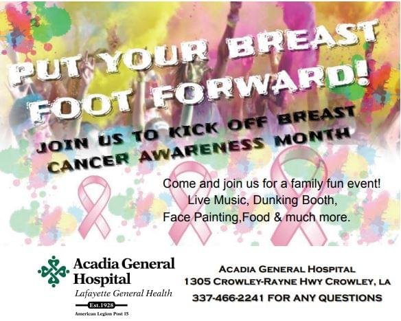 Acadia General Hospital hosting 5k Color Run to kick off Breast Cancer Awareness month