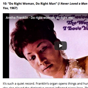 Aretha Franklin's 10 most influential songs