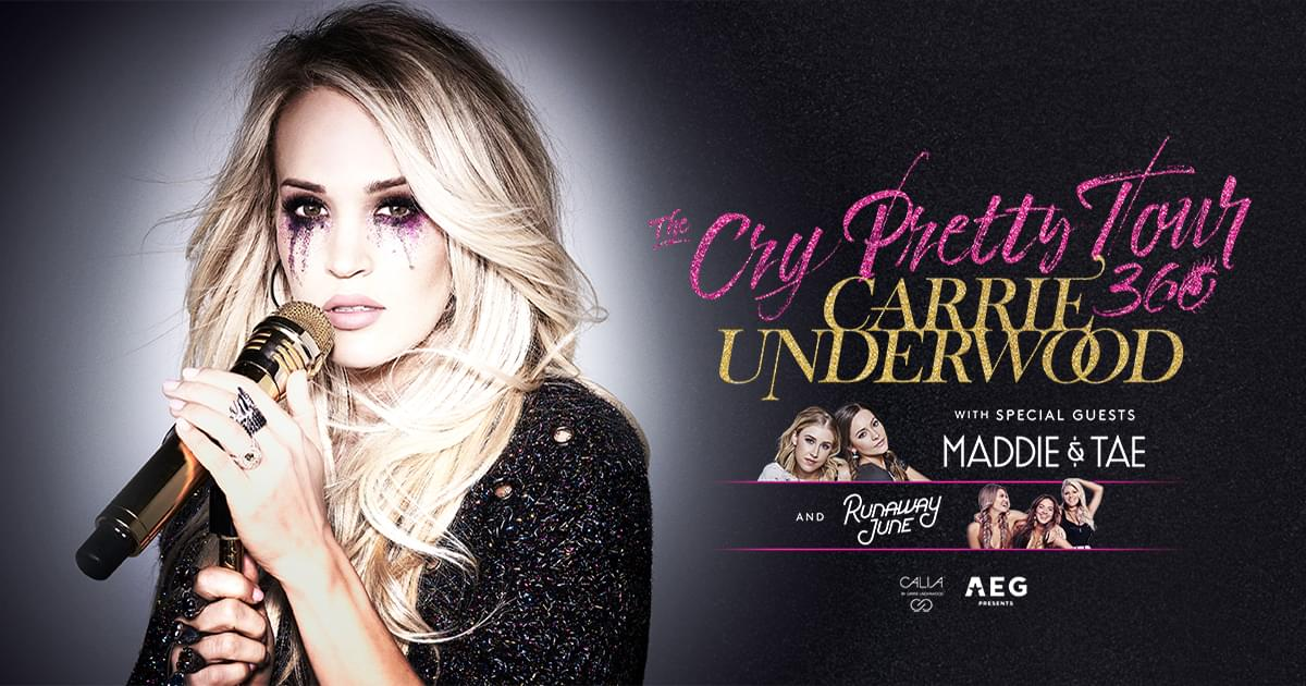 See Carrie Underwood LIVE when the Cry Pretty Tour 360 comes to the Cajundome!