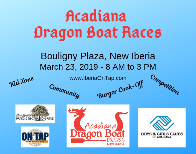 The Acadiana Dragon Boat Races returns to Downtown New Iberia this month!