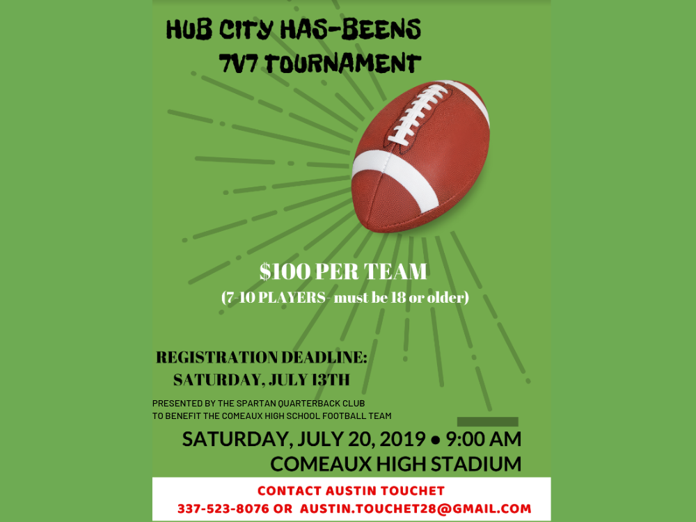 Enter Your Team for the Hub City Has-Beens 7v7 Tourney