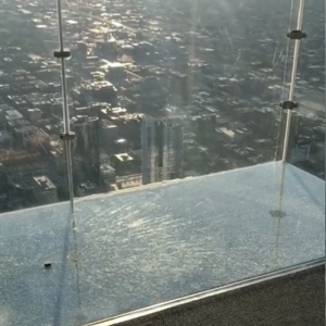 SkyDeck Ledge of the Willis Tower Cracks Under Visitors' Feet