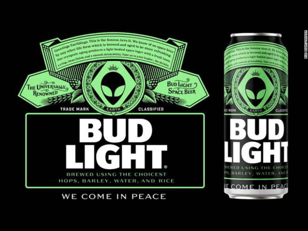 Bud Light Offering Free Beer to Area 51 Aliens