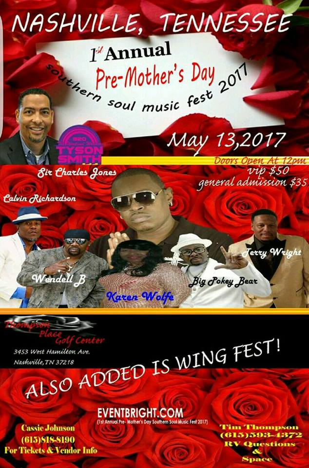 1st Annual Pre-Mother's Day Southern Soul Music Fest | WQQK-FM