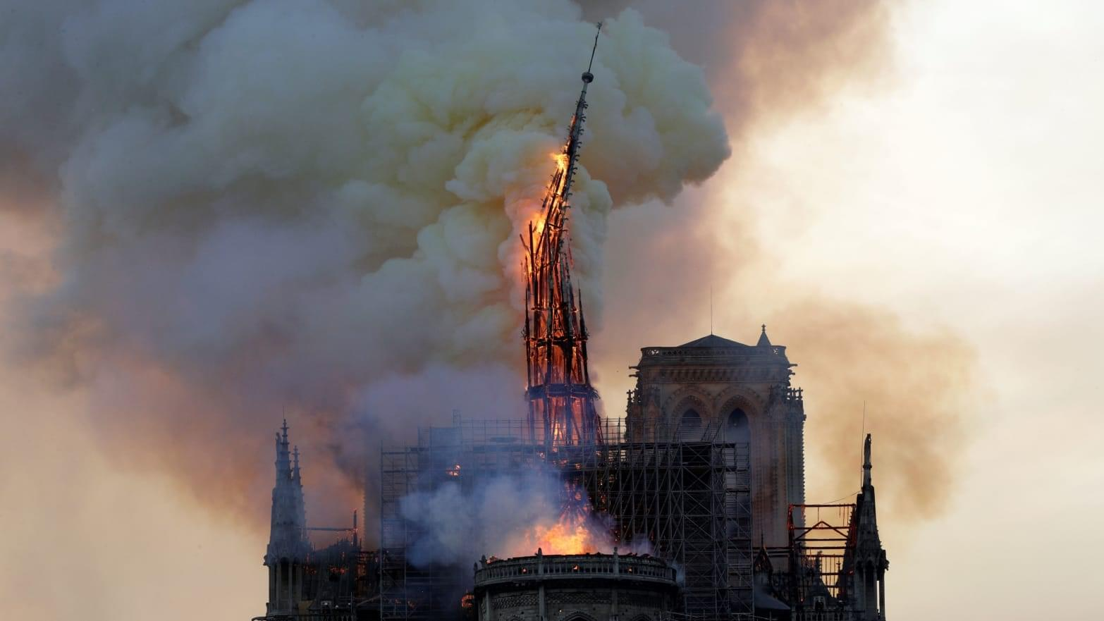 Paris' Historic Notre Dame Cathedral Severely Damaged in Catastrophic Fire