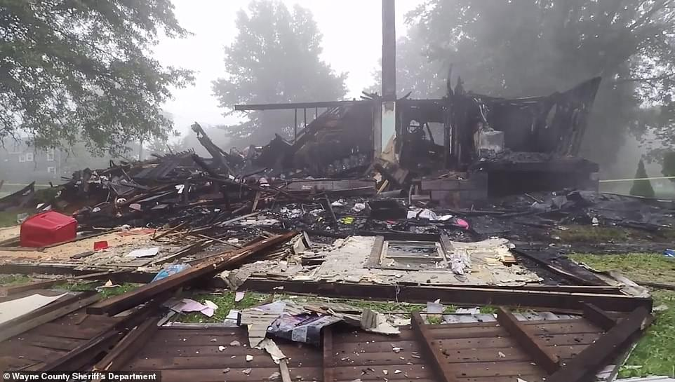 INTERRACIAL COUPLE'S HOME EXPLODES-HATE MESSAGES FOUND