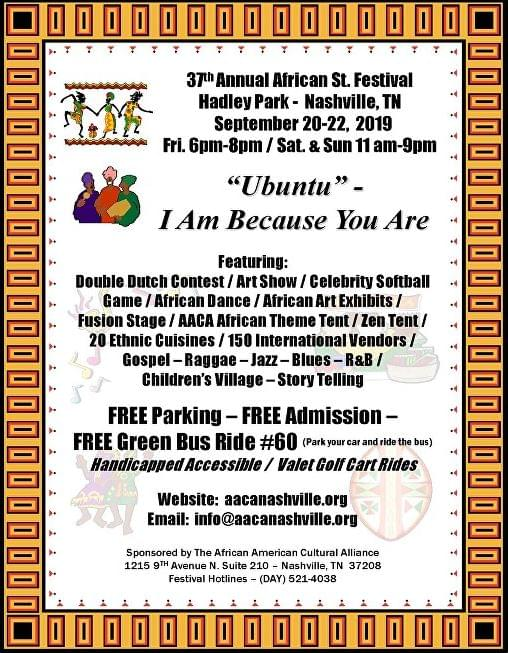 37th Annual African St Festival