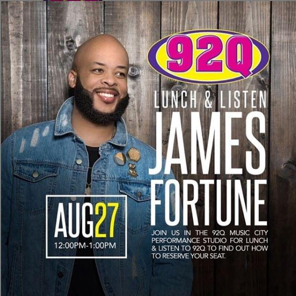 Lunch and Listen with James Fortune