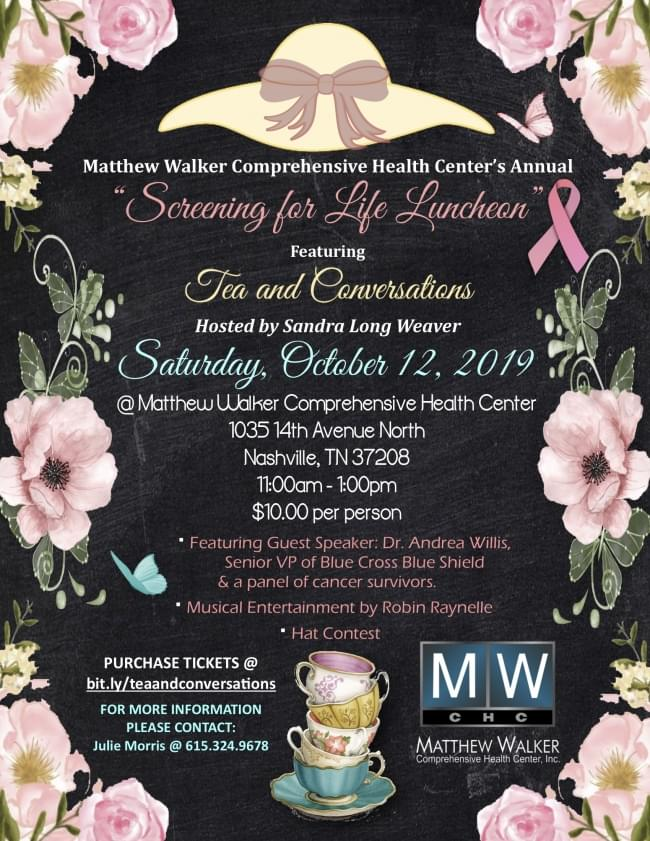 Screening for Life Luncheon featuring Tea and Conversations