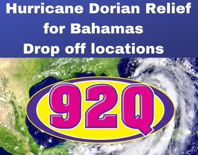 Hurricane Dorian Relief for Bahamas Drop Off Locations