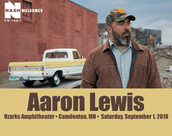 NASH FM 100.1 Welcomes Aaron Lewis to Ozarks Amphitheater