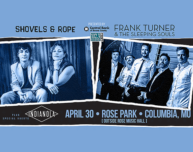 102.3 BXR Presents Shovels + Rope and Frank Turner