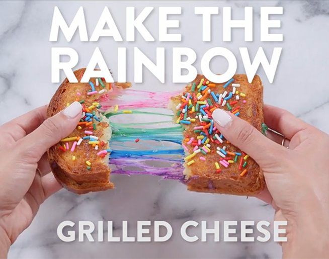 Rainbow Grilled Cheese!?!